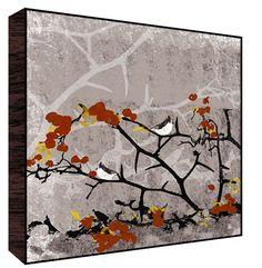 Birds on Fall Tree I Wall Art