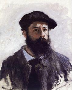 Autoportrait coiffé d'un béret, 1886 | Claude Monet