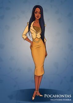 pocahontas.deviantart | 1950s inspired disney princesses pocahontas by tallytodd fan art ...