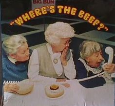"Wendy's ""Where's the Beef?"" commercial aired on January 10, 1984. This commercial advertised their square beef patties because other fast food vendors mainly focused their food advertisements on the HUGE bun."