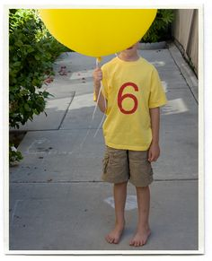 great blog post with ideas for a balloon themed party