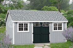 Garden Tool Storage Shed Plans 10' x 20' Gable Roof # D1020G, Free Material List