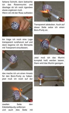 It is in German, but the pictures are detailed enough to show you an understanding of how to make a murrini Rose cane
