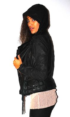 my favorite winter weather wear: leather layering  http://www.indieelectronicalternative.com/2012/01/winter-leather-layers.html