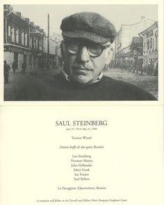 Saul Steinberg New Yorker   12.3.12: Jill Krementz covers Saul Steinberg   New York Social Diary