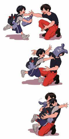 I'm Coming, Osomatsu nii-san! Anime Dad, Dark Anime Guys, Cute Anime Guys, Manga Anime, Haikyuu Fanart, Haikyuu Anime, Osomatsu San Doujinshi, Familia Anime, Dibujos Cute