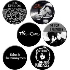 "Indie Badge Pack #1 - Half Dozen Quality 1.25"" Indie Music Pinback... (96 ARS) ❤ liked on Polyvore featuring accessories, fillers, button, pins and music"