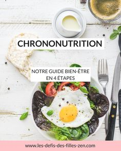 Adopt chrononutrition in 4 steps to eat better, be healthier and improve your quality of life. Presentation, explanation and menu of a week in the program of this wellness guide. Healthy Oils, Healthy Protein, Healthy Recipes, Smart Nutrition, Proper Nutrition, Turmeric Health Benefits, Wellness, Superfood, Cravings