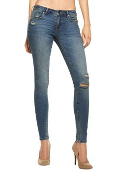 A must need in everyone's wardrobe. A pair of skinny distressed jeans. #justfabonline
