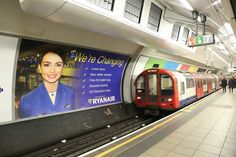 Europe's largest budget airline, Ryanair, has launched a multi-format advertising campaign across the London Underground network with Out of Home International. Out Of Home Advertising, Advertising Campaign, Cabin Bag, New Press, London Underground, Press Release, Billboard, Transportation, Tube
