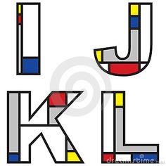Alfabeti di Mondrian