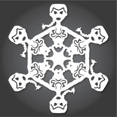 Artist Anthony Herrera's DIY Star Wars snowflakes combine paper art with the beloved series to create the perfect holiday project. Star Wars Snowflakes, Paper Snowflakes, Paper Snowflake Template, Snowflake Pattern, Snowflake Decorations, Snowflake Designs, Craft Decorations, Holiday Decorations, Craft Ideas