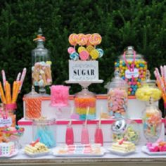 Candy Table! Will have one of these at my wedding.