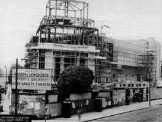 Construction of the Gaumont/Odeon cinema Holloway Rd c.1938
