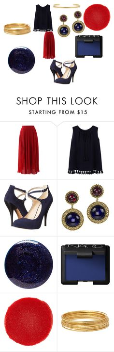"""""""Bedazzled"""" by alisafranklin on Polyvore featuring Chicwish, Violeta by Mango, Nine West, Chanel, Lauren B. Beauty, NARS Cosmetics, Christian Louboutin, Bold Elements and Jennifer Fisher"""