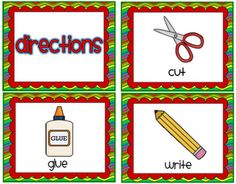 Picture icons to help non-readers follow directions. free download! #kindergarten Classroom Labels, Classroom Behavior, Classroom Design, Future Classroom, School Classroom, Classroom Ideas, Organization And Management, Teacher Organization, Classroom Management