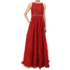 ceca6736542 Adrianna Papell Taffeta Tulle Ballgown Red Ball Gowns