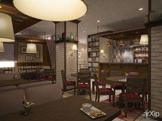Кофейня в Екатеринбурге: интерьер, зd визуализация, восточный, марокканский стиль, ресторан, кафе, бар, барная стойка, 30 - 50 м2, колонна, интерьер #interiordesign #3dvisualization #moroccan #restaurant #cafeandbar #barcounter #30_50m2 #column #interior