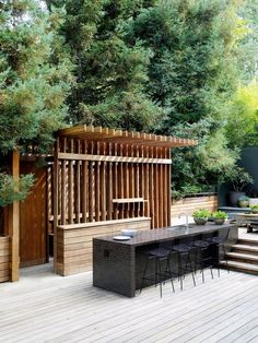 really cool deck design- with teak wood? commune design / derek mattison residence, nichols canyon