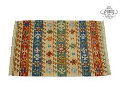 Tight Handwoven Pastel Turkish Kilim Rug by AnatoliaCollection