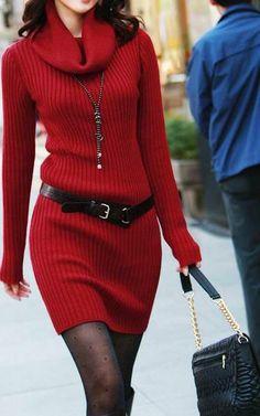 Hot woolen dress, hot
