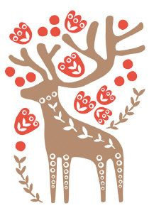 Roger la Borde | Scandi Letterpress Christmas Cards by Marianne Kivimaki