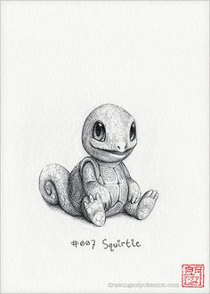 Squirtle 5 x 7 print by RockyHammerEtsy on Etsy