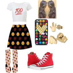 """""""Whole Emoji Outfit"""" by ilovejeffery on Polyvore"""