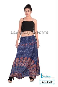 mandala fabrics skirts | 2123 Rayon Mandala Printed Long Skirt Rayon Block Printed Skirt ...