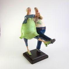 Folk Art Gourd Sculpture Dancing Couple. via mamagourds on Etsy.