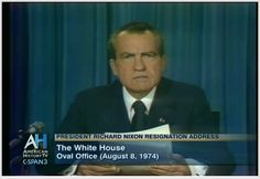 Nixon's resignation - 1974