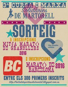 3ª CURSA I MARXA SOLIDÀRIES DE MARTORELL 07-06-2015  Inscripciones abiertas a partir del 1 de Abril. En esta edición los más rápidos en apuntarse participarán en un gran sorteo...