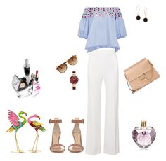 """""""Untitled #1236"""" by giselaturca on Polyvore featuring Persol, Gianvito Rossi, Roland Mouret, Chloé, Peter Pilotto, Humble Chic, Anne Klein, Benzara and Vera Wang"""
