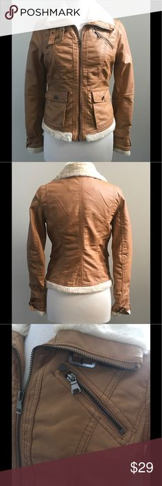 Faux Leather Jacket Get ready for Cold weather in this cute jacket! This jacket has great details. Only worn a handful of times! Ci Sono Jackets & Coats