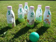 Bowling With Milk Bottles