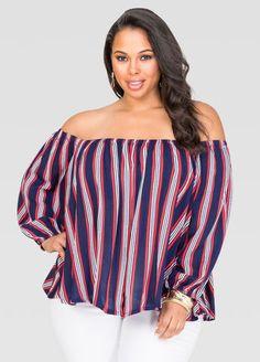 06c9047cc7843d Off-Shoulder Peasant Blouse Off-Shoulder Peasant Blouse Plus Size Blouses