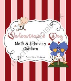 Valentine's Day Math and Literacy Centers { BONUS cards and coupons } product from Mrs-_Ds_Corner on TeachersNotebook.com
