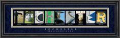 Rochester, MA. Framed Letter Art