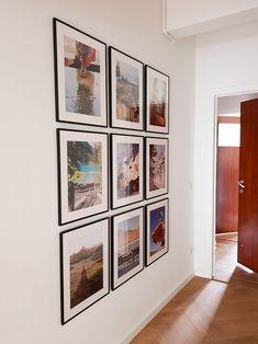 Gallery Wall in hallway. Ikea Gallery Wall, Gallery Wall Frames, Picture Wall, Picture Frames, Photo Wall, Home Decor Styles, Diy Home Decor, Oregon Living, Ikea Frames