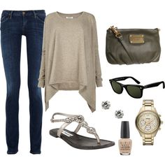 An outfit to go with my Ray Bans, created by ameadows4.polyvore.com