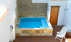 Private and simple. A hot tub you could build yourself. Get all the how to info you need at: www.custombuiltspas.com