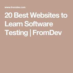 20 Best Websites to Learn Software Testing   FromDev