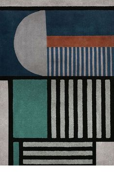 An inspiration in the conception of geometric forms with a modern appearance by neutral tones and overlays of forms. A collection developed essentially in classic graphs that bring of the history great references of balance and binary rhythm. A product with a modern design inspired by the classic bauhaus shapes. This is PRISMA Rug.