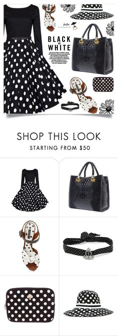 """""""So Dotty: Polka Dots, JetSet!"""" by samra-bv ❤ liked on Polyvore featuring Dolce&Gabbana, Yves Saint Laurent, Kate Spade, vintage, Summer, PolkaDots, bag, earrings and summervibes"""