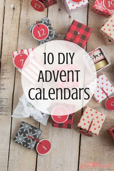 Advent Calendars are such a fun way to get our kids excited about the holiday season. You can include simple activities such as making a christmas tree ornament, or driving around to see all the christmas lights. I could hardly pick there were so many, but here are 10 of my favorite DIY advent calendars.
