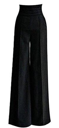 HKJIEVSHOP Women Sexy Casual High Waist Flare Wide Long Pants
