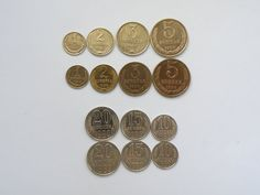 Set of 16 soviet coins, the set of 1989 and 1990 years - 1, 2, 3, 5, 10, 15, 20…