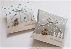 ... ebenfalls mit der Pillowbox hergestellt aus dem 1 Jahr lang gestreichelten Papier Stille Nacht, verziert mit der Tannenbaumstanze a...