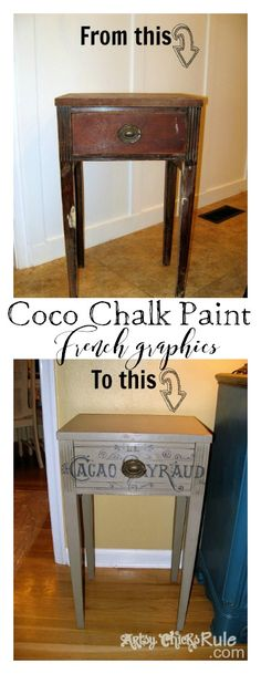 LOVE this color!! Coco Chalk Paint and French Graphics! artsychicksrule.com