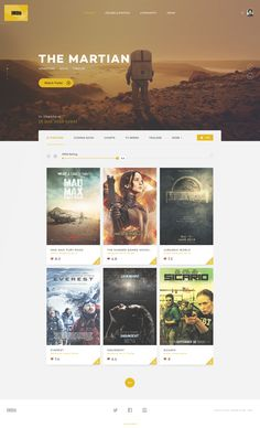 "via Muzli design inspiration. ""IMDB Redesign Concepts"" is published by Muzli in Muzli - Design Inspiration. Movie Website, Ui Design Inspiration, Design Ideas, Ui Web, Web Design Trends, Page Design, Ux Design, Graphic Design, Web Layout"